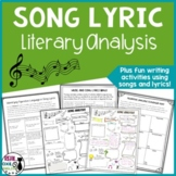 Song Lyric Analysis for Figurative Language and Creative Writing Activity