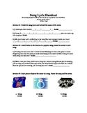 Song Lyric Handout