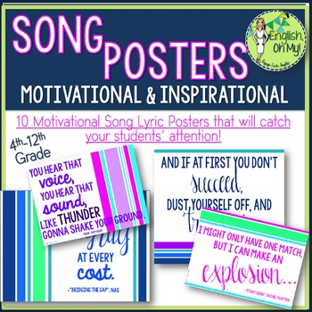 Song Lyric Posters
