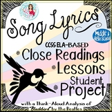 Song Lyrics Analysis 4-Part Lesson for National Poetry Month