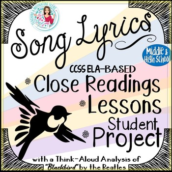 Song Lyrics Analysis 4-Part Poetry Lesson