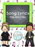 Song Lyrics: Writing, Analysis & Project