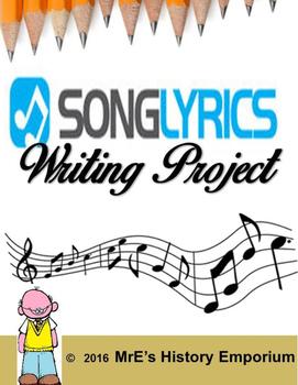 Song Lyrics Writing Project