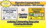 Song Lyrics and Figurative Language Mini-Books Common Core Bundle