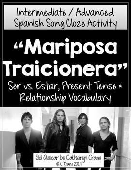 Spanish Song - Mariposa Traicionera - Ser vs. Estar