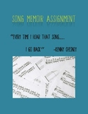 Song Memoir Writing Assignment