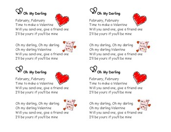 Song Minis: Oh My Darling, Valentine