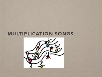 Song- Multiplication Songs