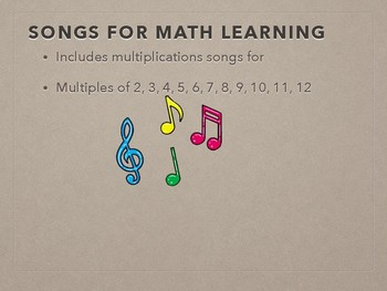 Song- Multiplication Songs