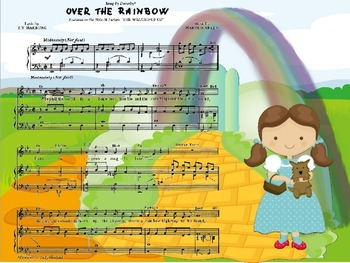 "Song -  ""Over the rainbow"" The Wizard of OZ"