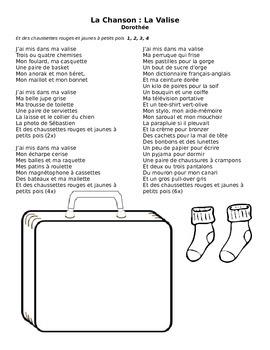 "Song Performance packet: Dorothee ""La Valise"" (Language Fa"