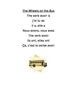 Song- Present Tense of the Verb Avoir
