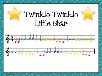 Song Scramble Cards - Twinkle Twinkle Little Star