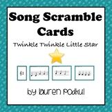 Song Scramble Cards - Twinkle Twinkle Little Star