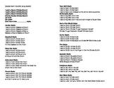 Song Sheet Handout-Boom Chicka Boom alternate verses