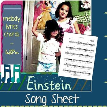 Einstein Song Lead sheet