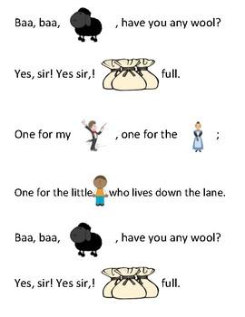 Song Sort - Baa, Baa, Black Sheep