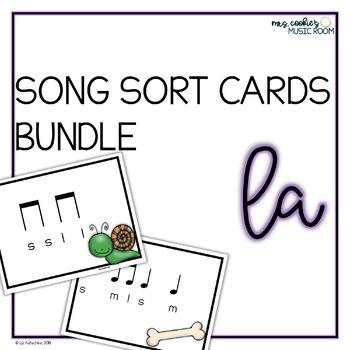 Song Sort Centers Cards Bundle: La