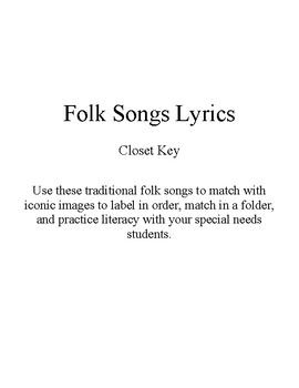Song Sort - Closet Key