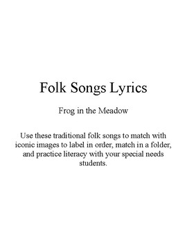 Song Sort - Frog in the Meadow