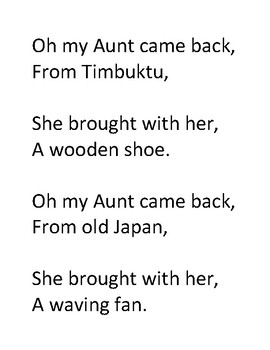 Song Sort - Oh My Aunt Came Back