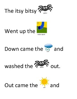 Song Sort - The Itsy Bitsy Spider