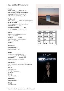 Song - Stay - Alessia Cara & Zedd