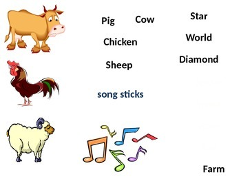 Song Sticks visual aids