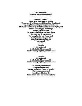 Song-We are French: Napoleon Bonaparte Parody