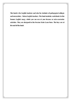 Song Worksheets