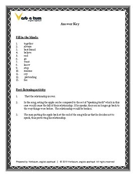 Bundle: Song Worksheets for ESL Learners, Vocab Builders, Fill in the Blanks