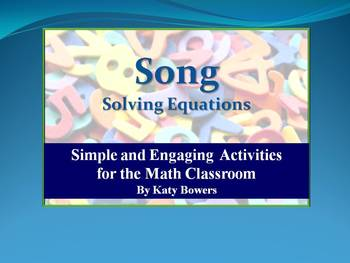 Song about Solving Equations