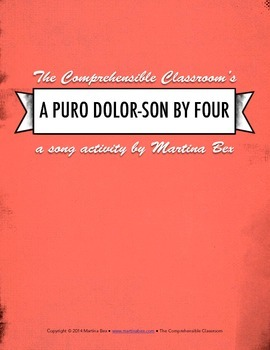 Song activity: A puro dolor (Son by Four)