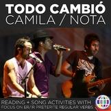 Todo cambió by Camila (originally) and Nota - song activit