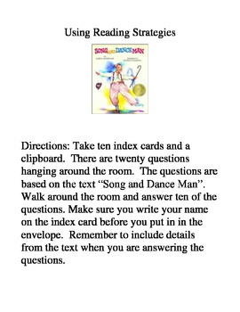 Song and Dance Man - Using Reading Strategies and Skills