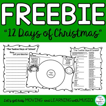 photo regarding Twelve Days of Christmas Lyrics Printable called Audio and Literacy Xmas Sport \