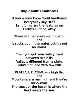 Song and Rap about Landforms