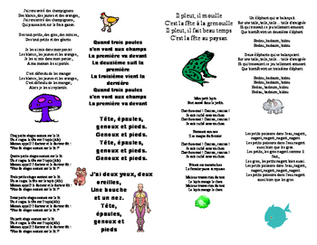 Song book of FRENCH ANIMAL songs
