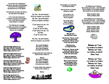 Song book of FRENCH songs