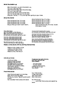 Song cards for the English classroom