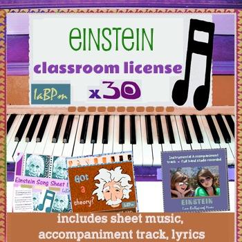 SONG KIT: license for 30 kids, sheet music, lyrics, accompaniment track