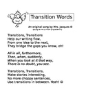 Song for teaching about TRANSITIONS in writing