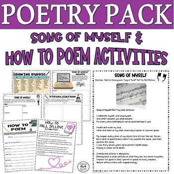 Song of Myself Poetry Activity Worksheet