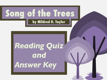 Song of Trees: Reading Quiz