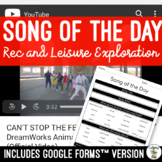 FREE Song of the Day Activity