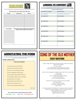 Song of the Old Mother Comprehension Activities Booklet!