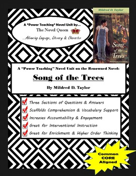 Song of the Trees--Complex Text Novel Unit by Mildred D. Taylor