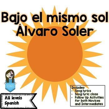 Song of the Week: Bajo el mismo sol Álvaro Soler