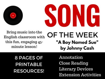 Song of the Week - Bring Music into the English Classroom