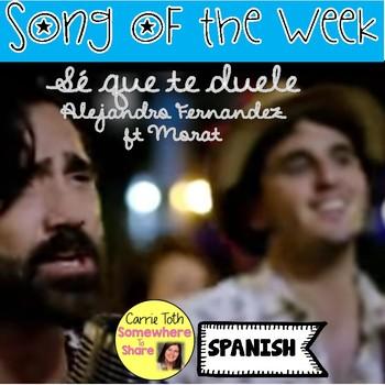Song of the Week: Sé Que Te Duele- Alejandro Fernandez